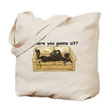 NBlk Where RU Tote Bag