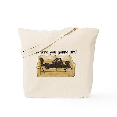 NBlk Where RU Tote Bag