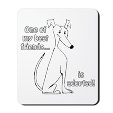 Adopted~White Mousepad