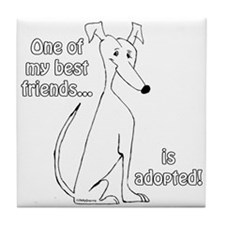 Adopted~White Tile Coaster