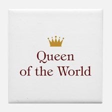 Queen of World Tile Coaster