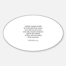 LEVITICUS 27:3 Oval Decal
