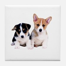 Cute Puppies Tile Coaster