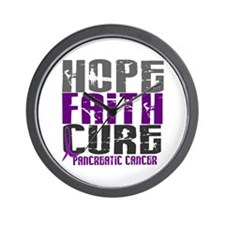 HOPE FAITH CURE Pancreatic Cancer Wall Clock