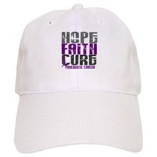 HOPE FAITH CURE Pancreatic Cancer Baseball Cap