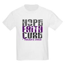 HOPE FAITH CURE Pancreatic Cancer T-Shirt