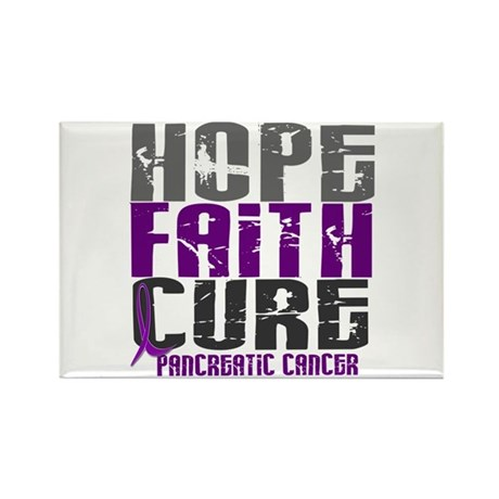 HOPE FAITH CURE Pancreatic Cancer Rectangle Magnet