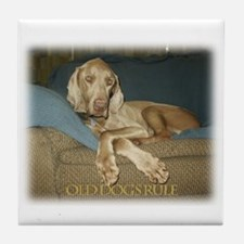 Old Dogs Rule-Jake Tile Coaster