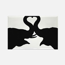 Love Elephant Valentine Rectangle Magnet (100 pack