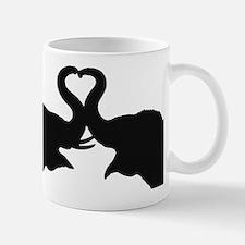 Love Elephant Valentine Small Small Mug