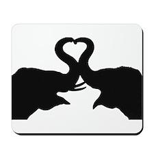 Love Elephant Valentine Mousepad