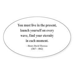Henry David Thoreau 9 Oval Decal