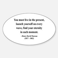 Henry David Thoreau 9 Oval Decal
