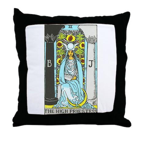 """The High Priestess"" Throw Pillow"