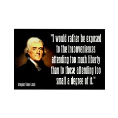 Jefferson on Liberty Magnet