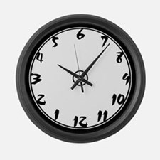 Punch Art (reverse) Large Wall Clock