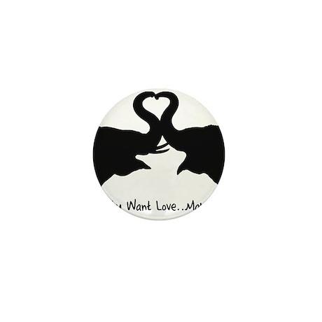Make Love Heart Elephant Vale Mini Button