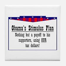 """""""Obama Payoff"""" Tile Coaster"""