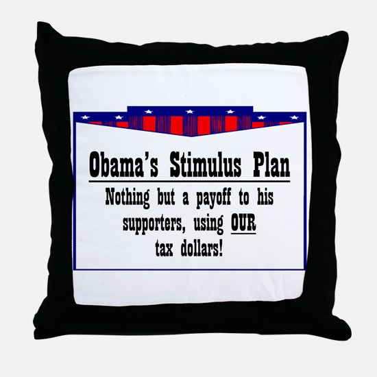 """Obama Payoff"" Throw Pillow"
