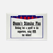 """""""Obama Payoff"""" Rectangle Magnet"""