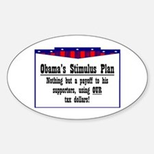 """""""Obama Payoff"""" Oval Decal"""
