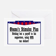 """Obama Payoff"" Greeting Card"