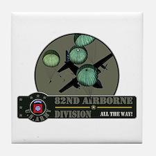 82nd Airborne Tile Coaster
