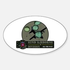 82nd Airborne Oval Decal