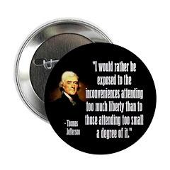 Jefferson on Liberty Button
