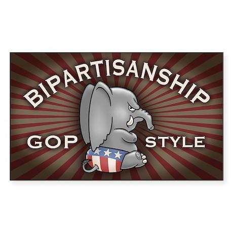 Bipartisan Sticker (Rectangle)
