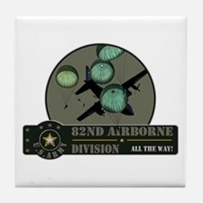 82nd Airborne Tile Coaster