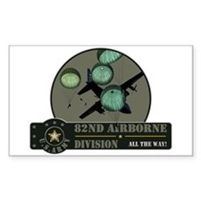 82nd Airborne Rectangle Decal