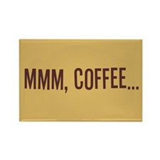 Mmm Coffee Rectangle Magnet