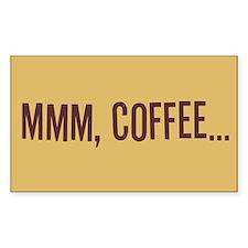 Mmm Coffee Rectangle Decal