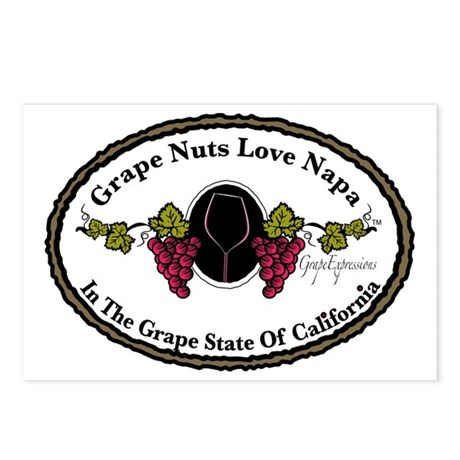 Grape Nuts Love Napa Postcards (Package of 8)