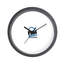 Cute The fish honolulu Wall Clock