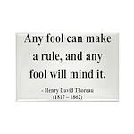 Henry David Thoreau 11 Rectangle Magnet (10 pack)