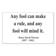 Henry David Thoreau 11 Rectangle Decal