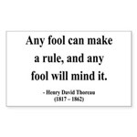 Henry David Thoreau 11 Rectangle Sticker