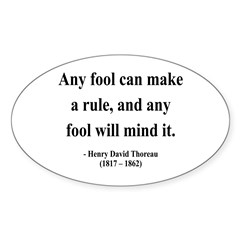 Henry David Thoreau 11 Oval Decal