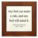 Henry David Thoreau 11 Framed Tile