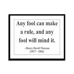 Henry David Thoreau 11 Framed Panel Print