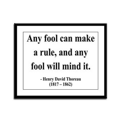 Henry David Thoreau 11 Framed Panel Print