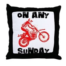 ON ANY SUNDAY Throw Pillow