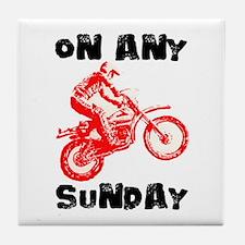 ON ANY SUNDAY Tile Coaster