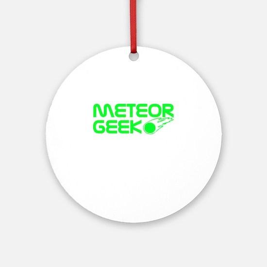 Meteor Geek Ornament (Round)