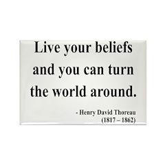 Henry David Thoreau 12 Rectangle Magnet (100 pack)
