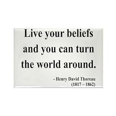 Henry David Thoreau 12 Rectangle Magnet