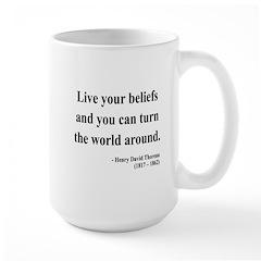 Henry David Thoreau 12 Large Mug