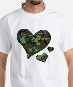 Blue Camo Hearts Shirt